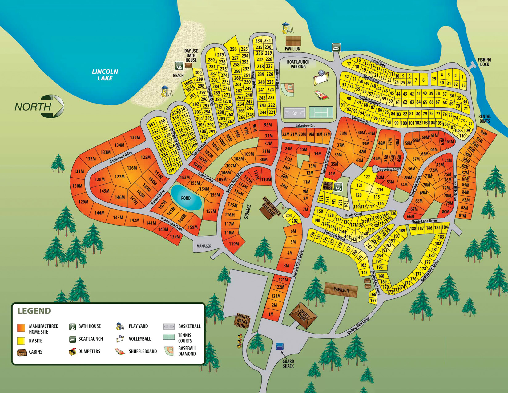 lincoln pines resort campground map